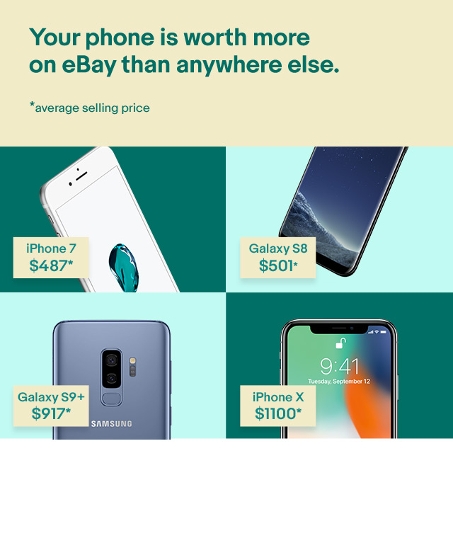Your phone is worth more on eBay than anywhere else.