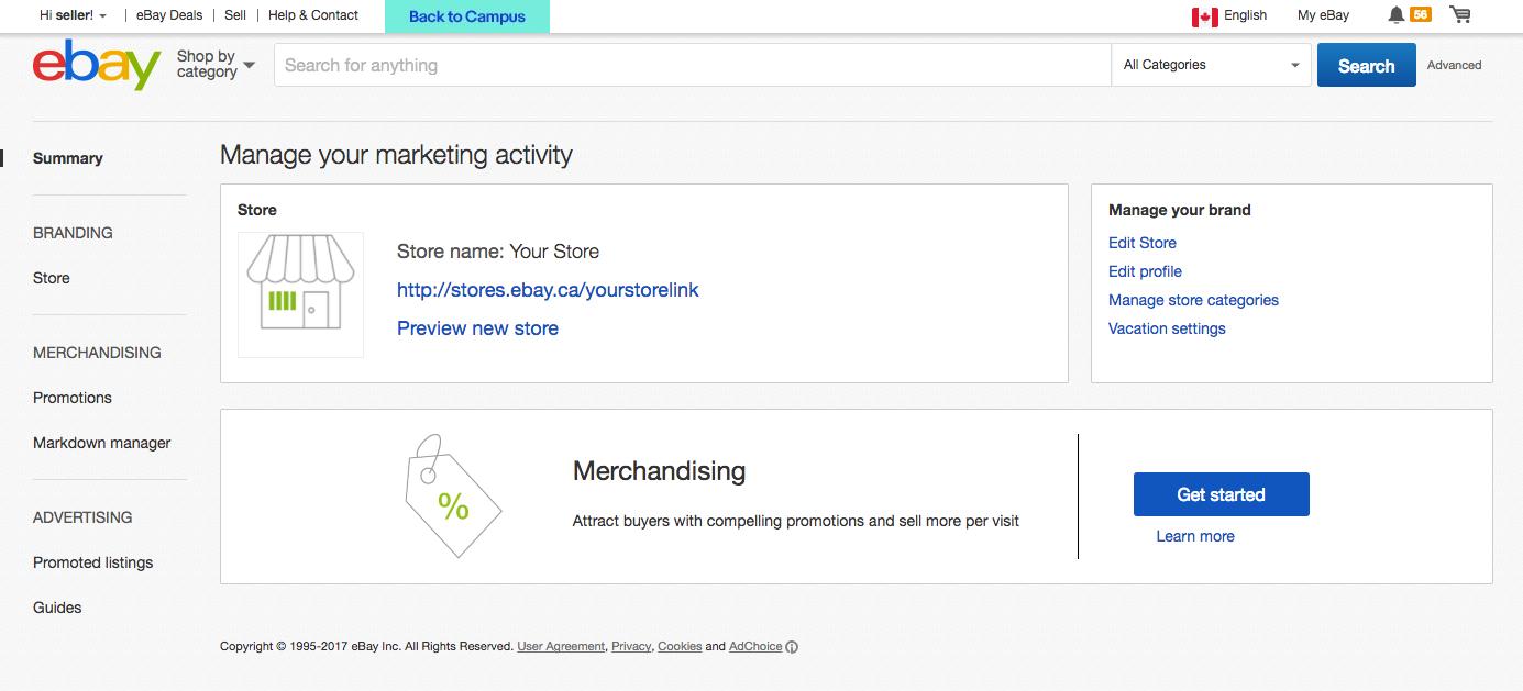 Manage your marketing activity